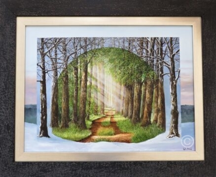 A Light at the End of the Tunnel Original Painting