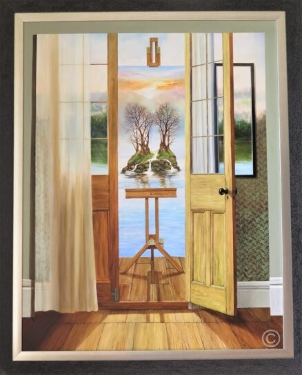 Across the Threshold and Beyond Original Painting