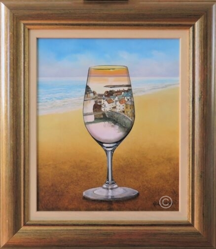 Glass of Port Original Painting