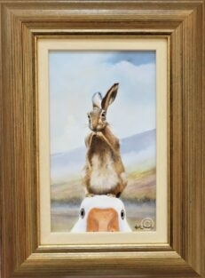I Wouldn't Harm a Hare Original Painting