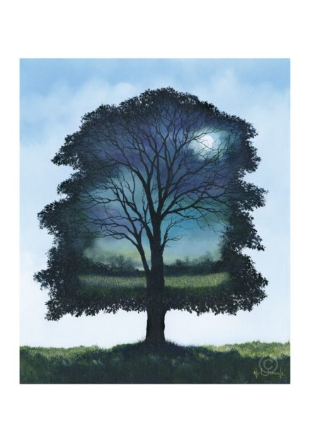 Moon In Silhouette Greeting Card