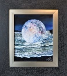 Once in a Blue Moon Original Painting