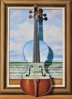 Repertoire for Violin Original Painting