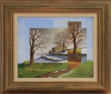Segmented Seasons Original Painting