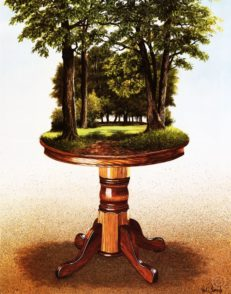 The Oakwood Table Lithograph Print